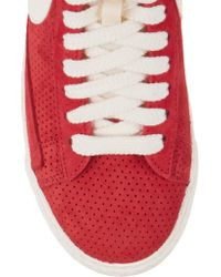 Nike   Red Blazer Perforated Suede High-top Sneakers   Lyst