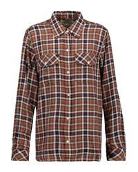 Current/Elliott Brown The Perfect Plaid Cotton-blend Shirt