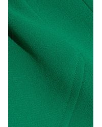 Roland Mouret Green Fluted Wool-crepe Top