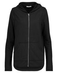 Yummie By Heather Thomson Black Jersey Hooded Sweatshirt