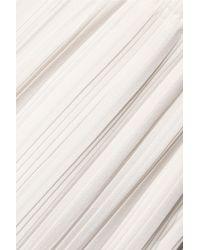 Adam Lippes White Pleated Crepe Wide-leg Pants