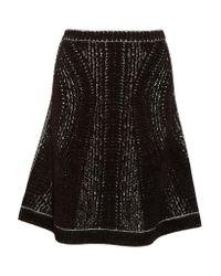 Hervé Léger - Black Amara Chenille Jacquard Skirt - Lyst