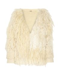 Adam Lippes | White Fringed Wool And Cashmere-blend Cardigan | Lyst