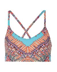 Mara Hoffman | Multicolor Skybird Printed Stretch-jersey Sports Bra | Lyst