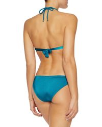 Eberjey - Blue Beach Glow Knotted Triangle Top - Lyst