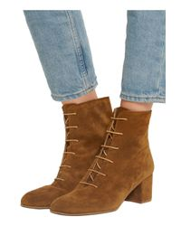 Atp Atelier Brown Sun Suede Ankle Boots