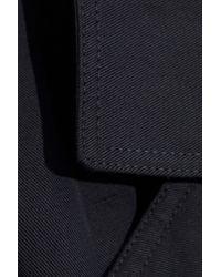Vince Belted Linen And Cotton-blend Gabardine Jacket Dark Gray