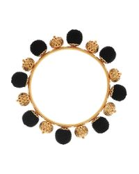 Dolce & Gabbana | Black Gold-plated And Woven Bangle | Lyst