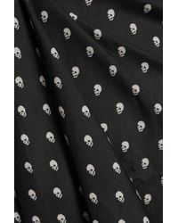 R13 Black Babydoll Printed Silk-voile Mini Dress