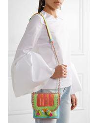 Sophia Webster - Multicolor Claudie Tassel Woven Leather Crossbody Bag - Lyst