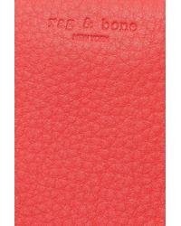 Rag & Bone Leather Clutch Red