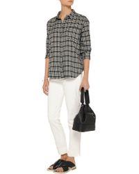 Elizabeth and James - Gray Carine Plaid Cotton-flannel Shirt - Lyst
