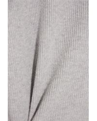 FRAME - Gray Le Boxy Cotton, Silk And Cashmere-blend Sweater - Lyst