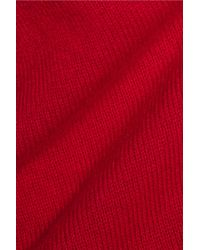 Madeleine Thompson - White Vidos Intarsia Wool And Cashmere-blend Turtleneck Sweater - Lyst