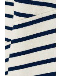 Petit Bateau - Blue Striped Cotton Dress - Lyst