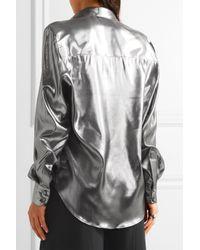 Pallas - Metallic Arianne Silk Lamé Shirt - Lyst