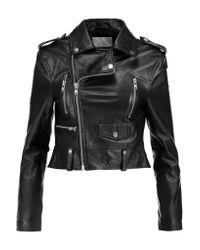 W118 by Walter Baker Black Mindy Leather Biker Jacket