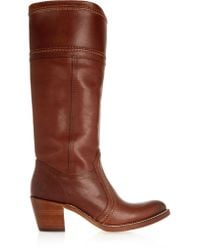 Frye Brown Jane Leather Knee Boots