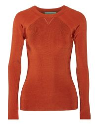 Jason Wu - Red Ribbed-knit Sweater - Lyst