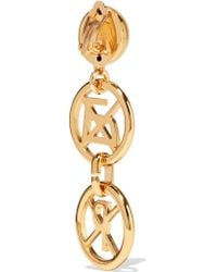 Moschino   Metallic Gold-tone Earrings   Lyst