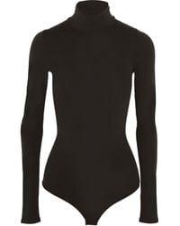 Theory Multicolor Stretch-jersey Turtleneck Bodysuit