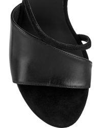Alexander Wang Black Marion Leather-paneled Suede Sandals