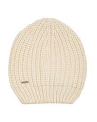 Maje Natural Ribbed-knit Beanie