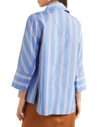 Marni Striped Cotton-poplin Shirt Light Blue