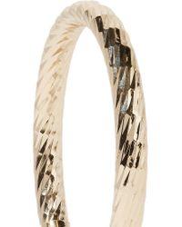 Kenneth Jay Lane Metallic Polished Gold-tone Hoop Earrings