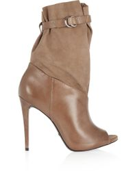 Schutz - Natural Leather And Suede Boots - Lyst