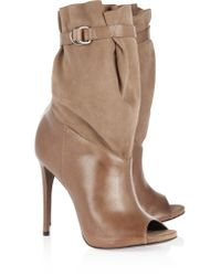 Schutz Natural Leather And Suede Boots
