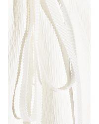 ADEAM Jacquard Mini Dress White