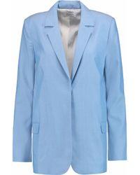 Equipment - Blue Mitchell Woven Silk Blazer - Lyst