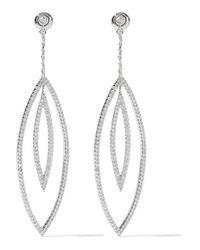 Noir Jewelry - Metallic - Solaris Silver-tone Crystal Earrings - Lyst