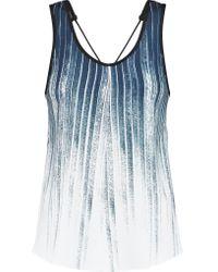 10 Crosby Derek Lam Blue Printed Crepe Top