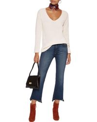 Joie - White Wei Ribbed Wool And Cashmere-blend Sweater - Lyst