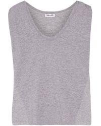 Splendid   Gray Paneled Cotton And Modal-blend Top   Lyst