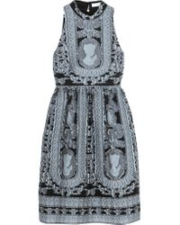 Erdem | Blue Dina Fil Coupé Dress | Lyst