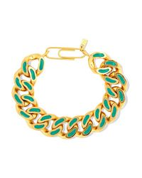 Aurelie Bidermann - Metallic Aurélie Bidermann - Gold-plated Lacquer Bracelet - Lyst