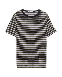 T By Alexander Wang | Black Striped Jersey T-shirt | Lyst