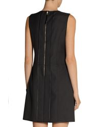Marc Jacobs Black Pleated Wool And Mohair-blend Mini Dress