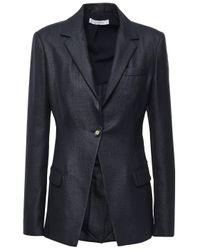 Versace Woven Blazer Midnight Blue