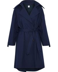 Iris & Ink Blue Morgan Cotton-canvas Trench Coat
