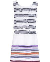 lemlem Blue Kedame Striped Cotton-blend Gauze Dress