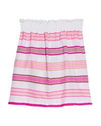lemlem - Tinish Striped Cotton-blend Gauze Mini Skirt - Pink