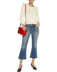 Madeleine Thompson - White Leo Striped Wool And Cashmere-blend Top - Lyst