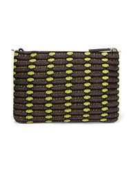 M Missoni - Multicolor - Metallic Crochet-knit Clutch - Grape - Lyst