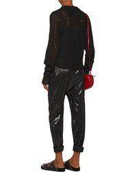 Isabel Marant Woman Zutti Open-knit Linen-blend Sweater Black