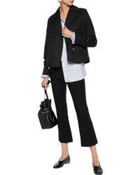 Robert Rodriguez Black Cotton And Linen-blend Jacket