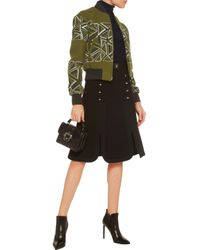 Peter Pilotto Wool-blend Bomber Jacket Army Green